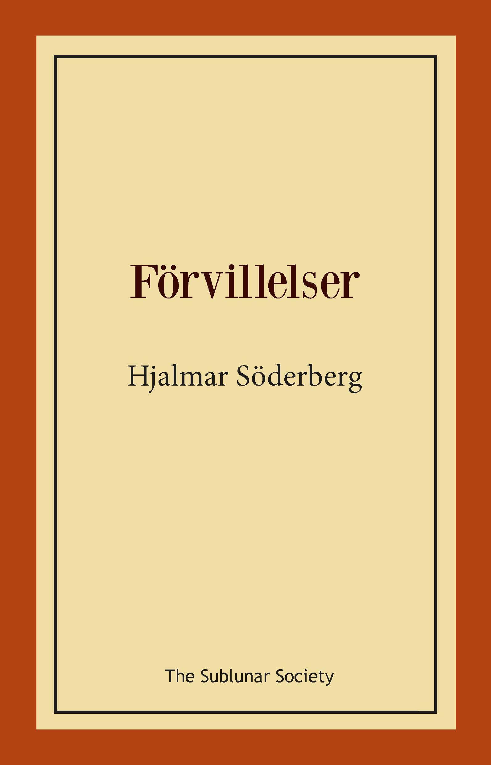 Förvillelser av Hjalmar Söderberg