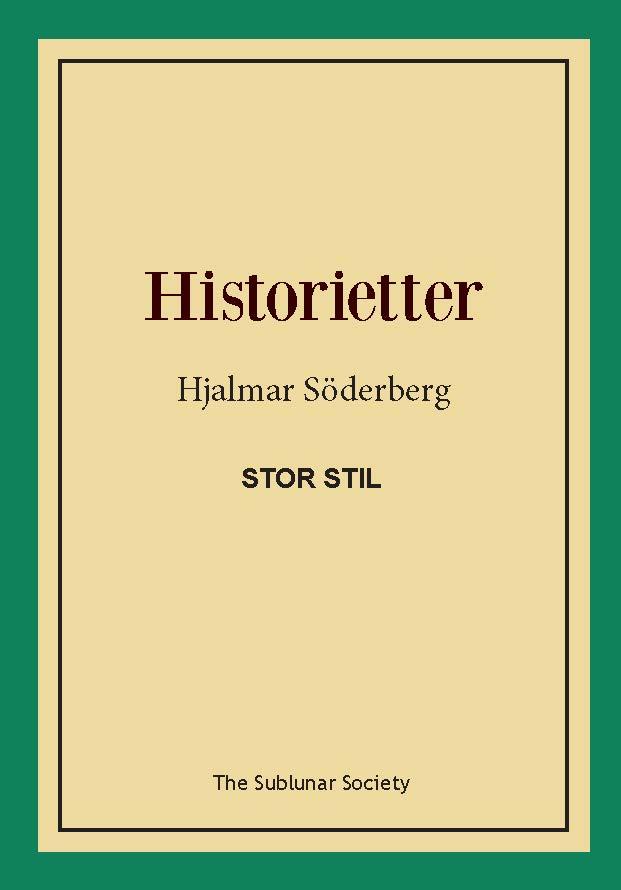 Historietter (stor stil) av Hjalmar Söderberg